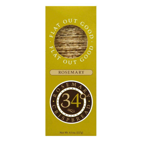34 Degrees Rosemary Crispbread, 4.5 OZ (Pack of 18)