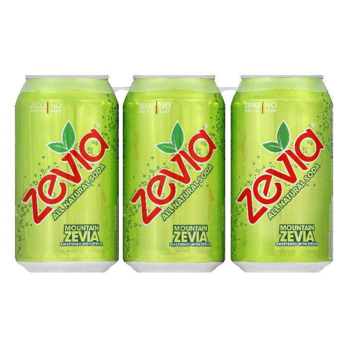 Zevia Mountain Zevia Soda, 72 FO (Pack of 4)