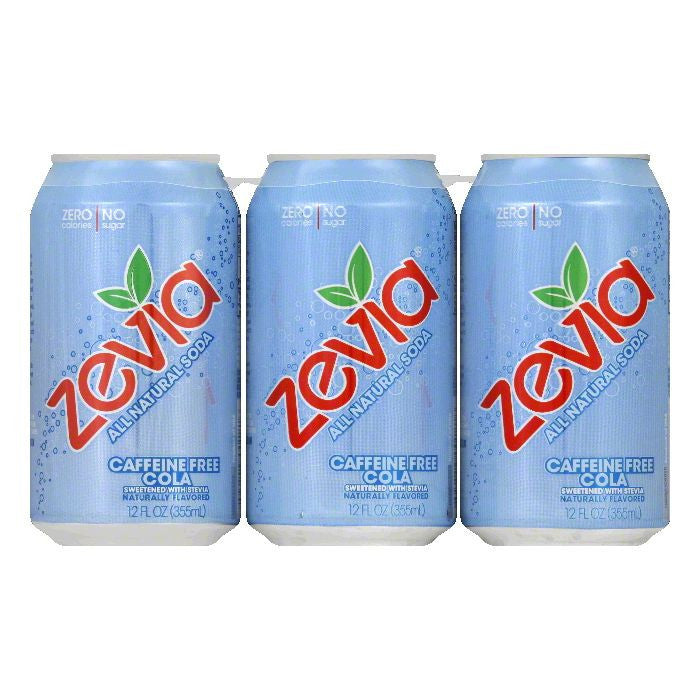Zevia Caffeine Free Cola, 72 FO (Pack of 4)