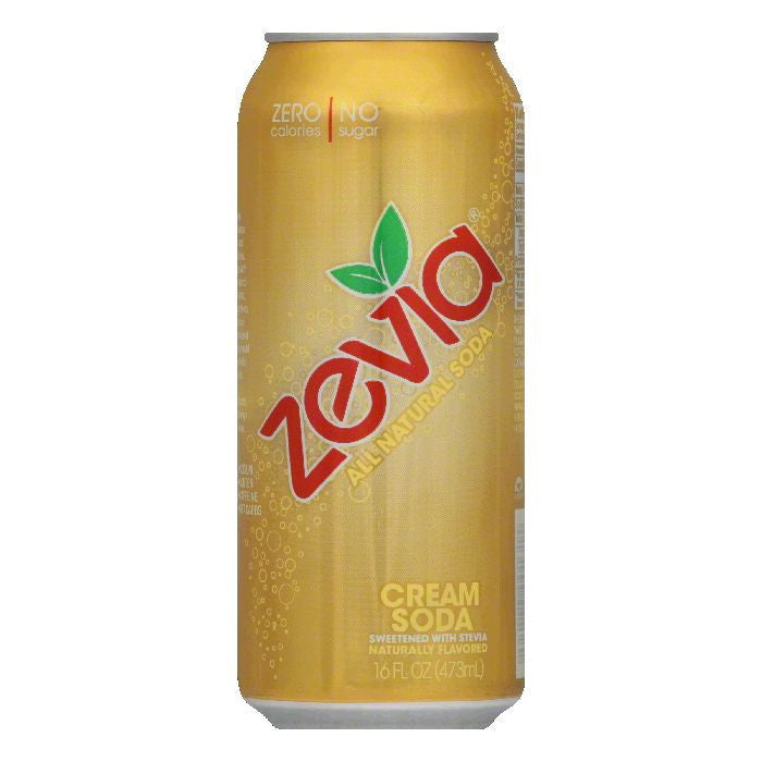 Zevia Cream Soda, 16 FO (Pack of 12)