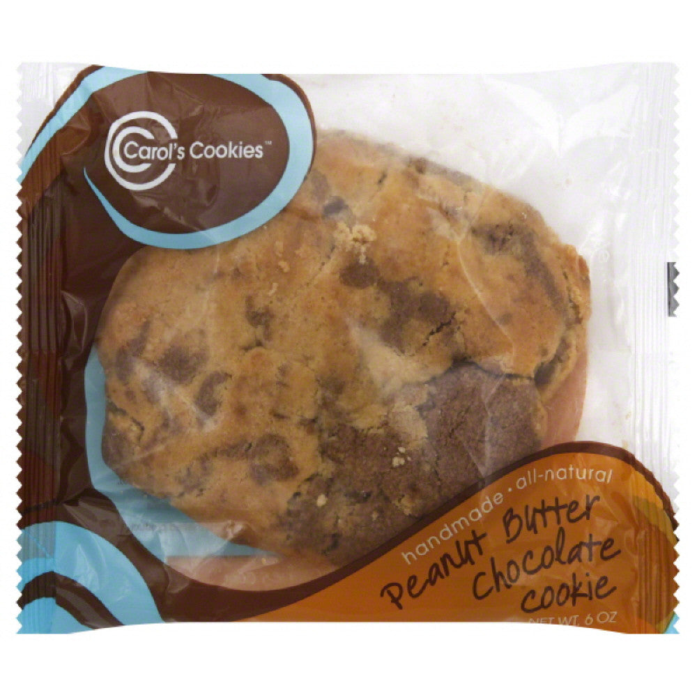 Carols Cookies Peanut Butter Chocolate Cookie, 6 Oz (Pack of 36)