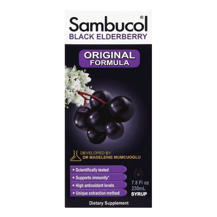 Sambucol Liquid Black Elderberry Original Formula Immune System Support, 7.8 Oz