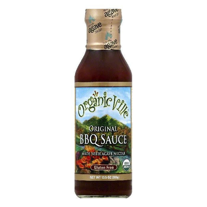 OrganicVille Original BBQ Sauce, 13.5 OZ (Pack of 6)