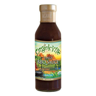 OrganicVille Tangy Organic BBQ Sauce, 13.5 OZ (Pack of 6)