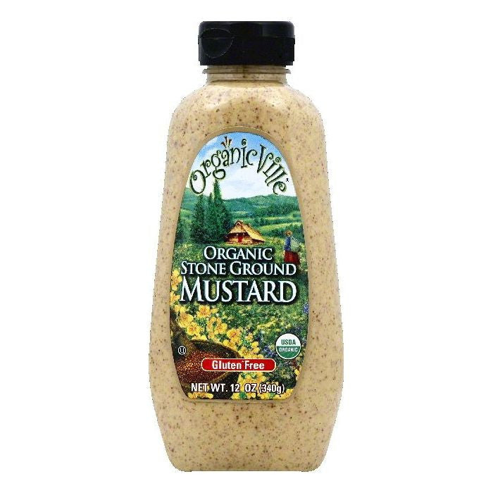 OrganicVille Stone Ground Organic Mustard, 12 OZ (Pack of 12)