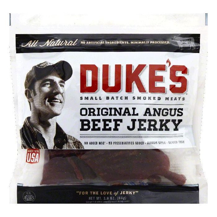 Dukes Original Angus Beef Jerky, 3 OZ (Pack of 8)