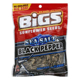 Bigs Black Pepper Seasalt Sunflower Seeds, 5.35 OZ  ( Pack of  8)