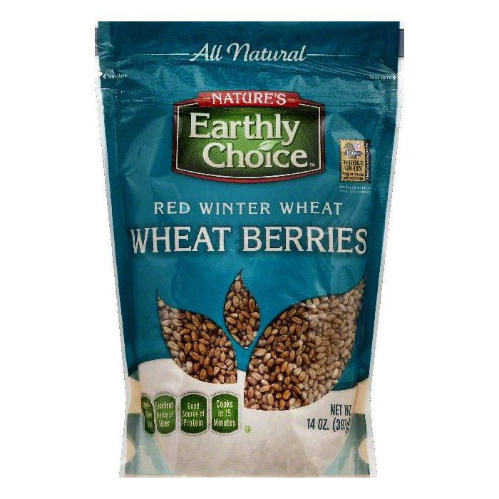 Natures Earthly Choice Red Winter Wheat Wheat Berries, 14 OZ (Pack of 6)
