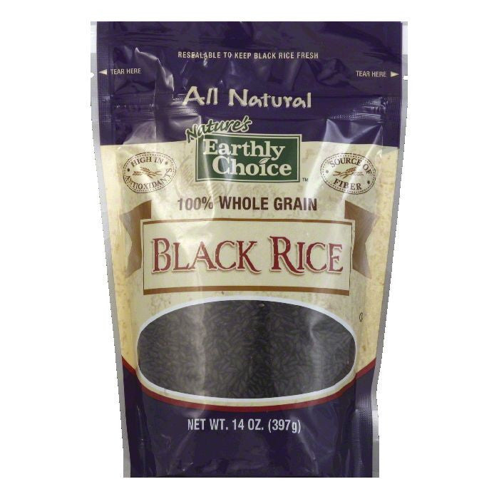 Natures Earthly Choice Black Rice, 14 OZ (Pack of 6)
