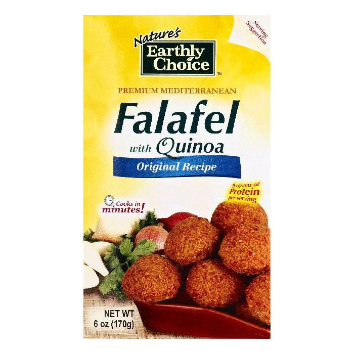 Natures Earthly Choice Original Recipe with Quinoa Falafel, 6 OZ (Pack of 6)