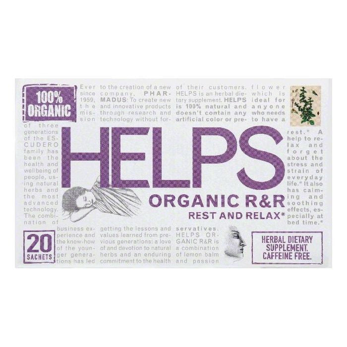 Helps Sachets Organic R&R Rest & Relax, 20 ea (Pack of 6)