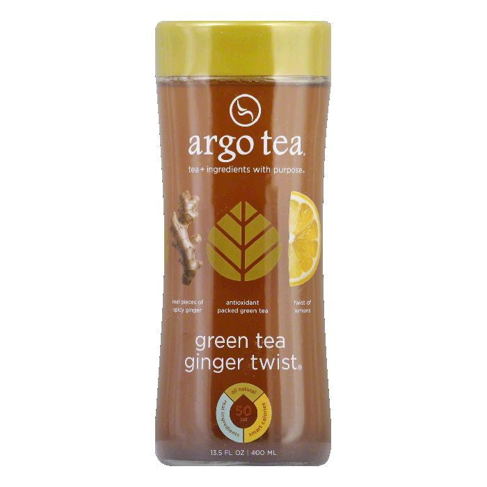 Argo Tea Ginger Twist Green Tea, 13.5 Fo (Pack of 12)