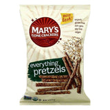 Marys Gone Crackers Everything Pretzels, 7.5 OZ (Pack of 12)