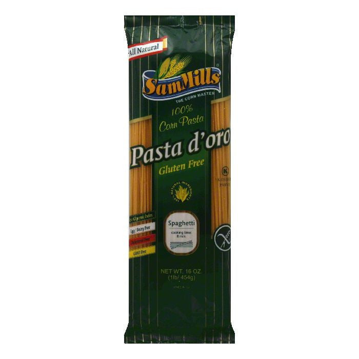 Sam Mills Gluten Free Corn Spaghetti Pasta, 16 OZ (Pack of 12)