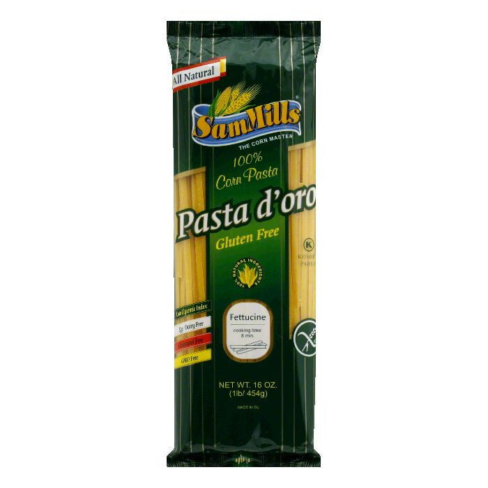 Sam Mills Gluten Free Corn Fettucinie Pasta, 16 OZ (Pack of 12)