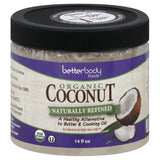 BetterBody Foods Organic Naturally Refined Coconut, 15.5 Oz (Pack of 6)