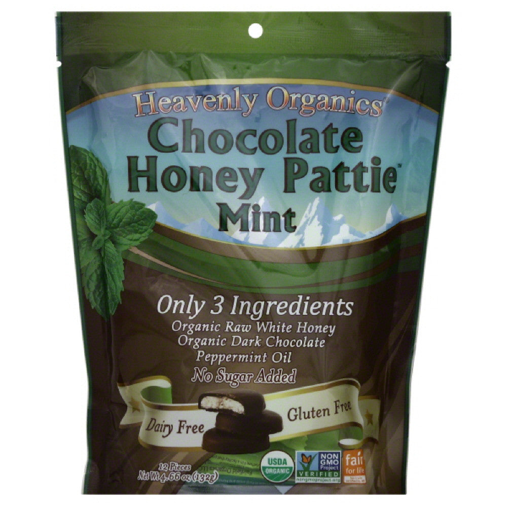 Heavenly Organics Mint Chocolate Honey Patties, 4.66 Oz (Pack of 6)