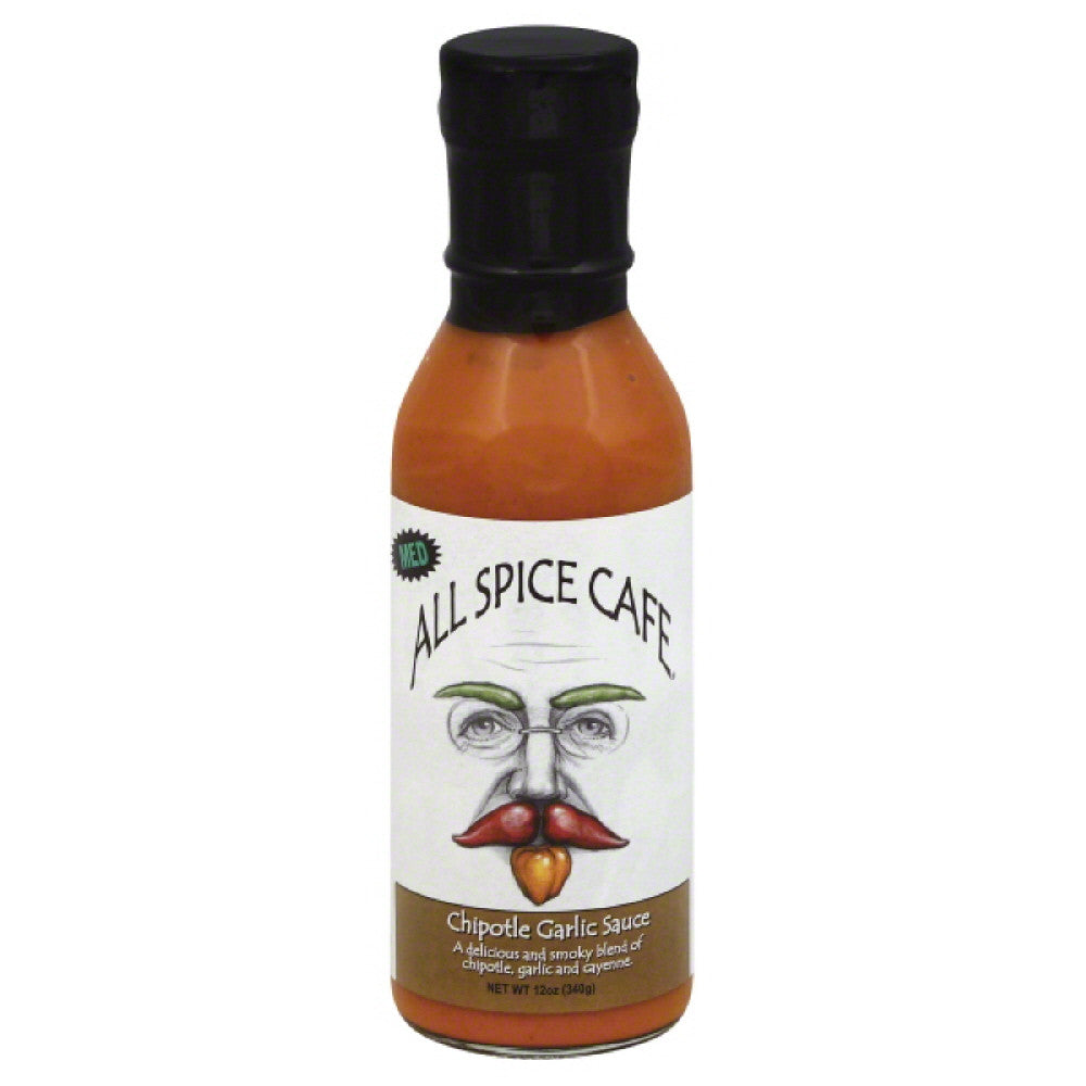 All Spice Cafe Med Chipotle Garlic Sauce, 12 Oz (Pack of 6)