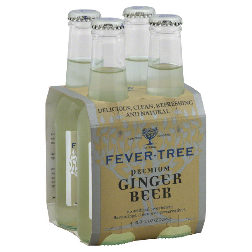 Fever Tree Premium Ginger Beer, 6.8 Fo (Pack of 6)