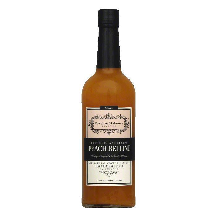 Powell & Mahoney Peach Bellini Cocktail Mixer, 25.36 Oz (Pack of 6)