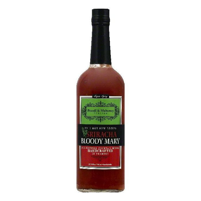 Powell & Mahoney Super Spicy Sriracha Bloody Mary Non-Alcoholic Cocktail Mixer, 25.36 OZ (Pack of 6)