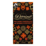Divine 0.7 Dark Chocolate with Mango & Coconut, 3.5 OZ (Pack of 10)
