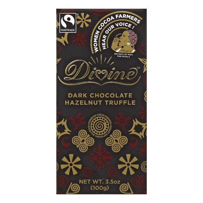 Divine Hazelnut Truffle Dark Chocolate, 3.5 OZ (Pack of 10)
