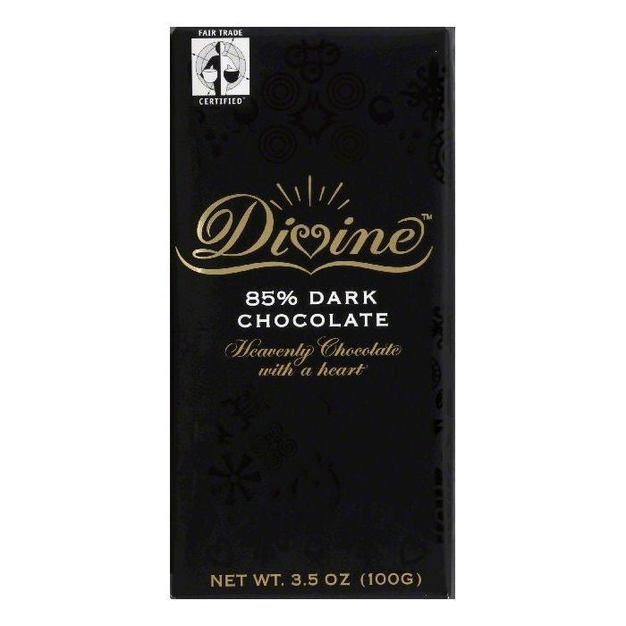 Divine 0.85 Dark Chocolate, 3.5 OZ (Pack of 10)
