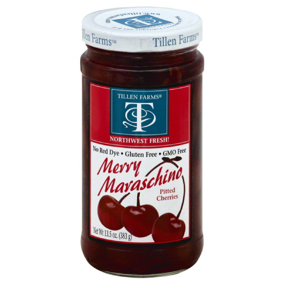 Tillen Farms Merry Maraschino Pitted Cherries, 14 Oz (Pack of 6)