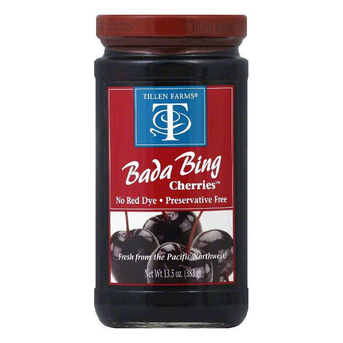 Tillen Farms Bada Bing Cherries, 13.5 OZ (Pack of 6)