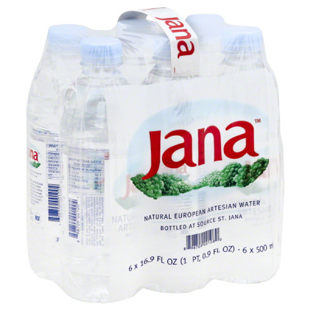 Jana Natural European Artesian Water, 101.4 Fo (Pack of 4)
