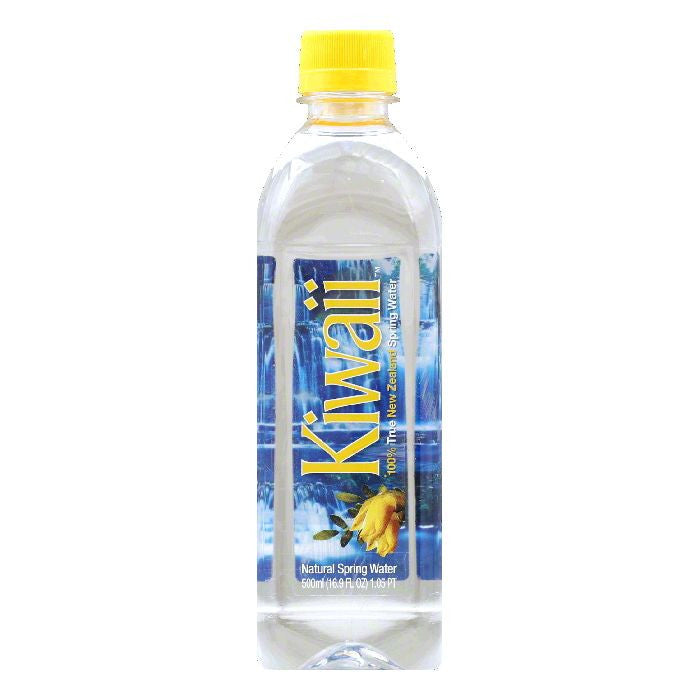 Kiwaii Natural Spring Water, 16.9 Oz (Pack of 24)