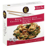 Feel Good Foods Broad Noodles With Chicken & Chinese Broccoli, 9 Oz (Pack of 8)