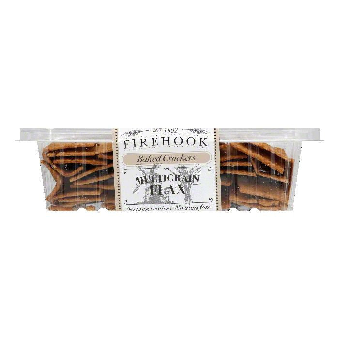 Firehook Multigrain Flax Baked Crackers, 8 Oz (Pack of 12)