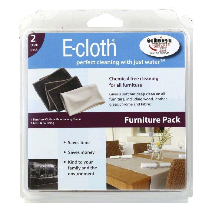 E Cloth Furniture Pack Cleaning Cloths, 4 Oz (Pack of 10)