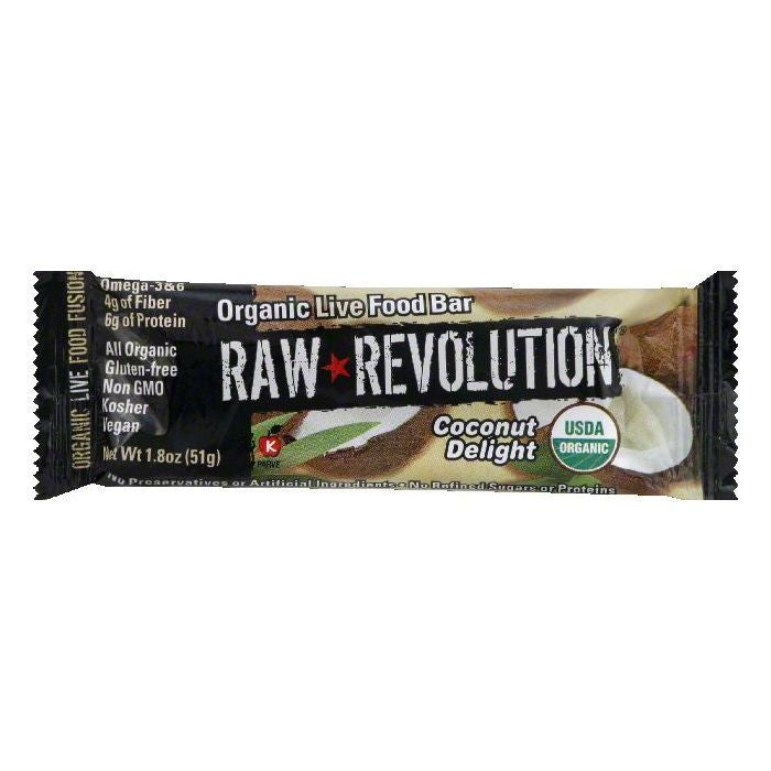 Raw Revolution Coconut Delight Organic Live Food Bar, 1.8 OZ (Pack of 12)