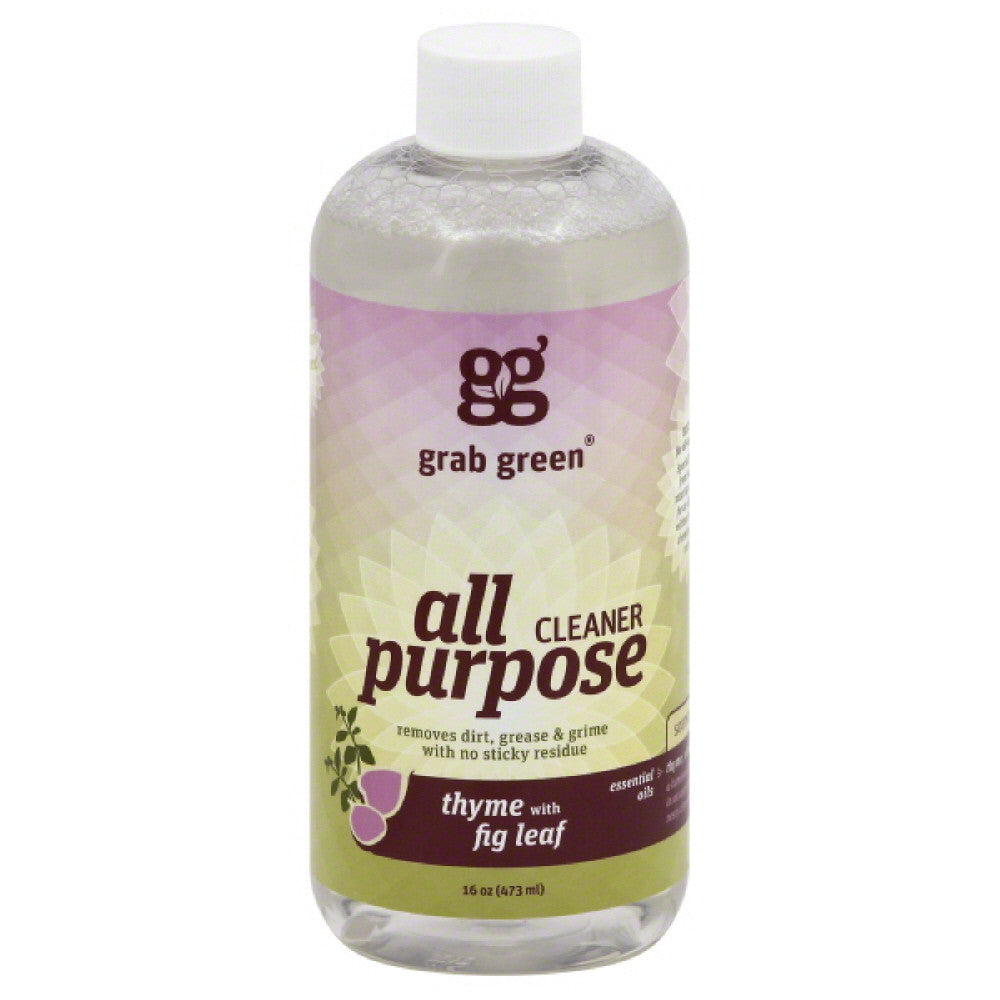 Grab Green Thyme with Fig Leaf All-Purpose Cleaner, 16 Oz (Pack of 6)