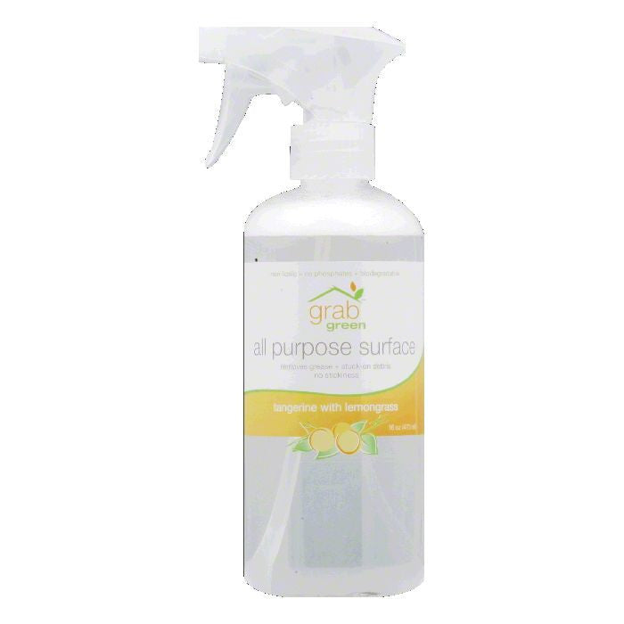 Grab Green Tangerine with Lemongrass All Purpose Surface Cleaner, 16 Oz (Pack of 6)