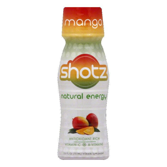 Shotz Mango Vitamin Supplement, 2.5 Oz (Pack of 12)