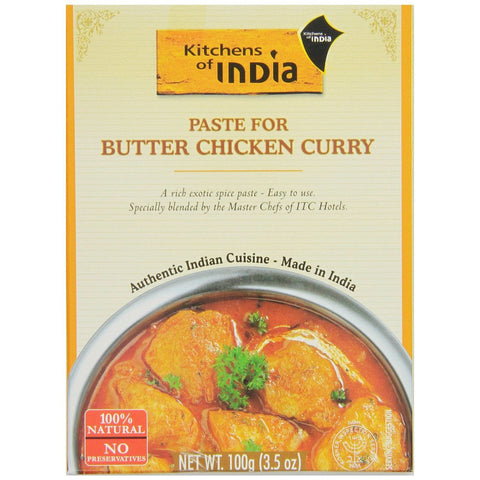 Kitchens of India Paste for Butter Chicken Curry, 3.5 Oz (Pack of 6)
