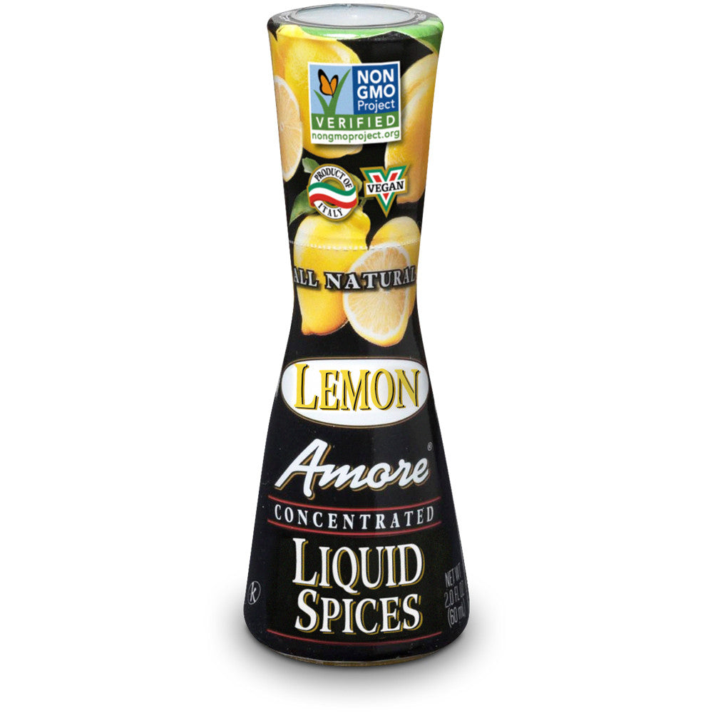 Amore Lemon Flavor Liquid Spices, 2 Oz (Pack of 12)
