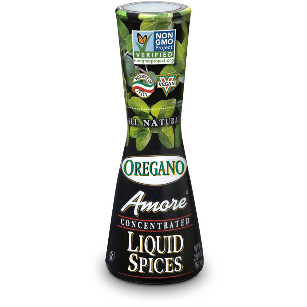 Amore Oregano Flavor Liquid Spices, 2 Oz (Pack of 12)