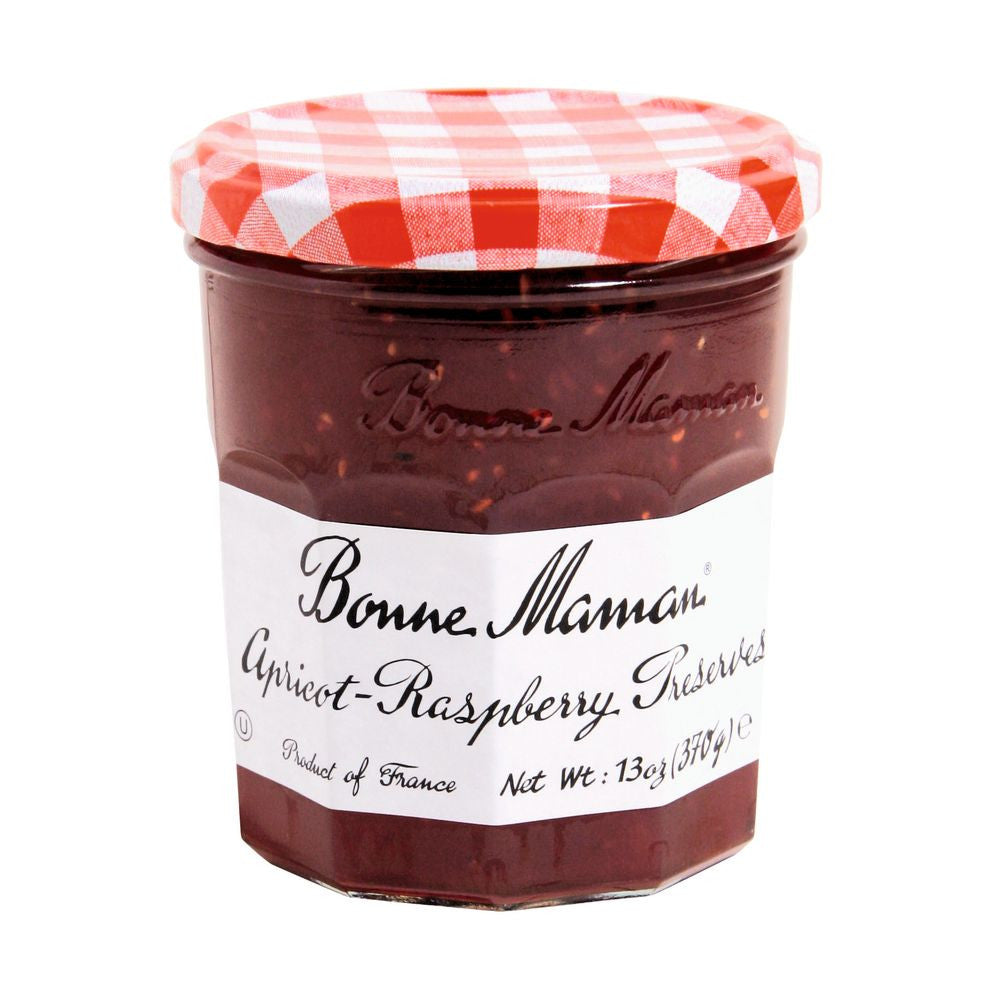 Bonne Maman Apricot Raspberry Preserves, 13 Oz (Pack of 6)
