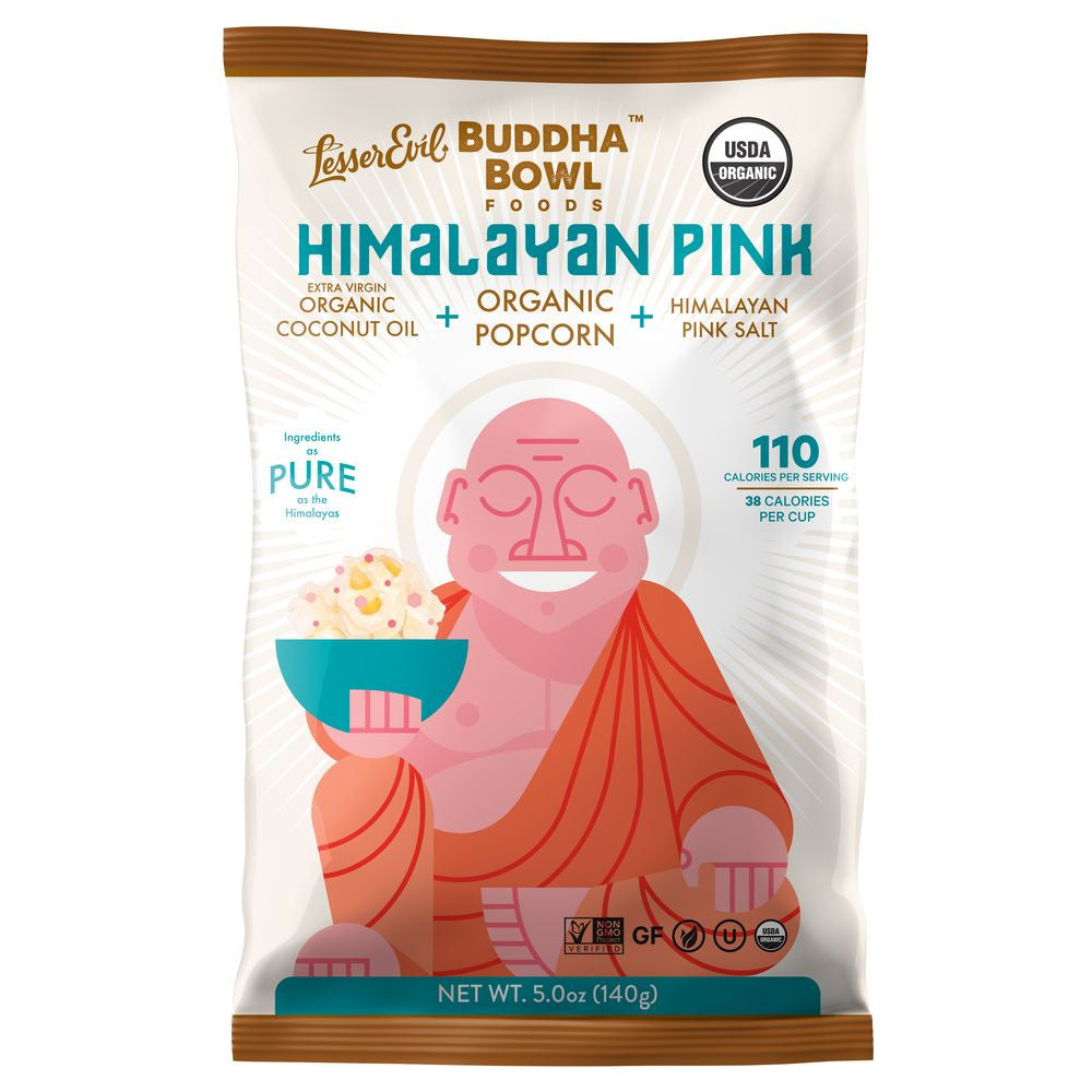 LesserEvil Buddha Bowl Organic Himalayan Pink, 5 Oz (Pack of 12)