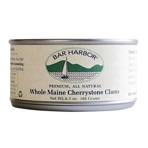 Bar Harbor Whole Maine Cherrystone Clams , 6.5 OZ (Pack of 12)