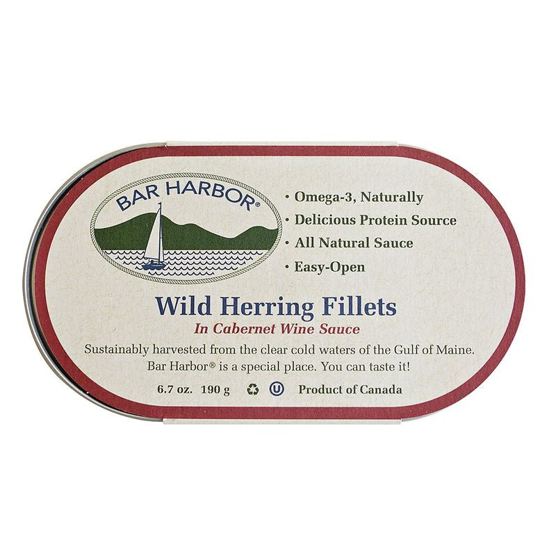 Bar Harbor Herring w/Cabernet Wine, 6.7 OZ (Pack of 12)