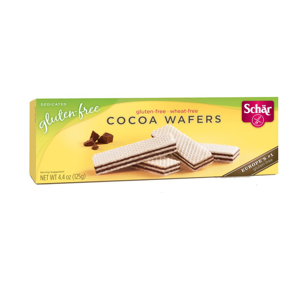 Schar Cocoa Wafers, 4.4 Oz (Pack of 12)