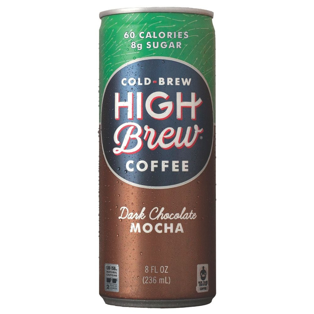 High Brew Dark Chocolate Mocha Cold Brew Coffee, 8 OZ (Pack of 12)