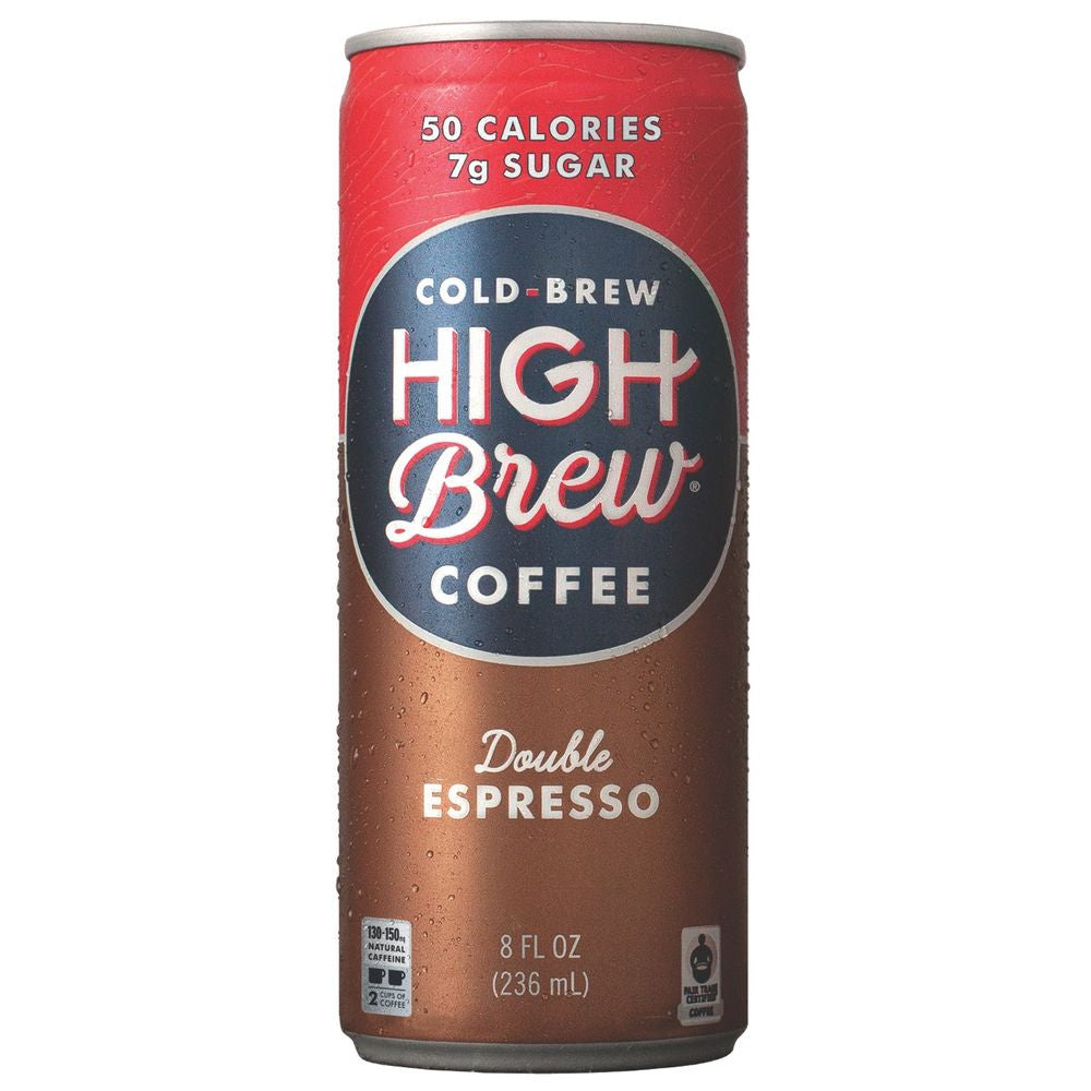 High Brew Double Espresso Cold Brew Coffee, 8 OZ (Pack of 12)