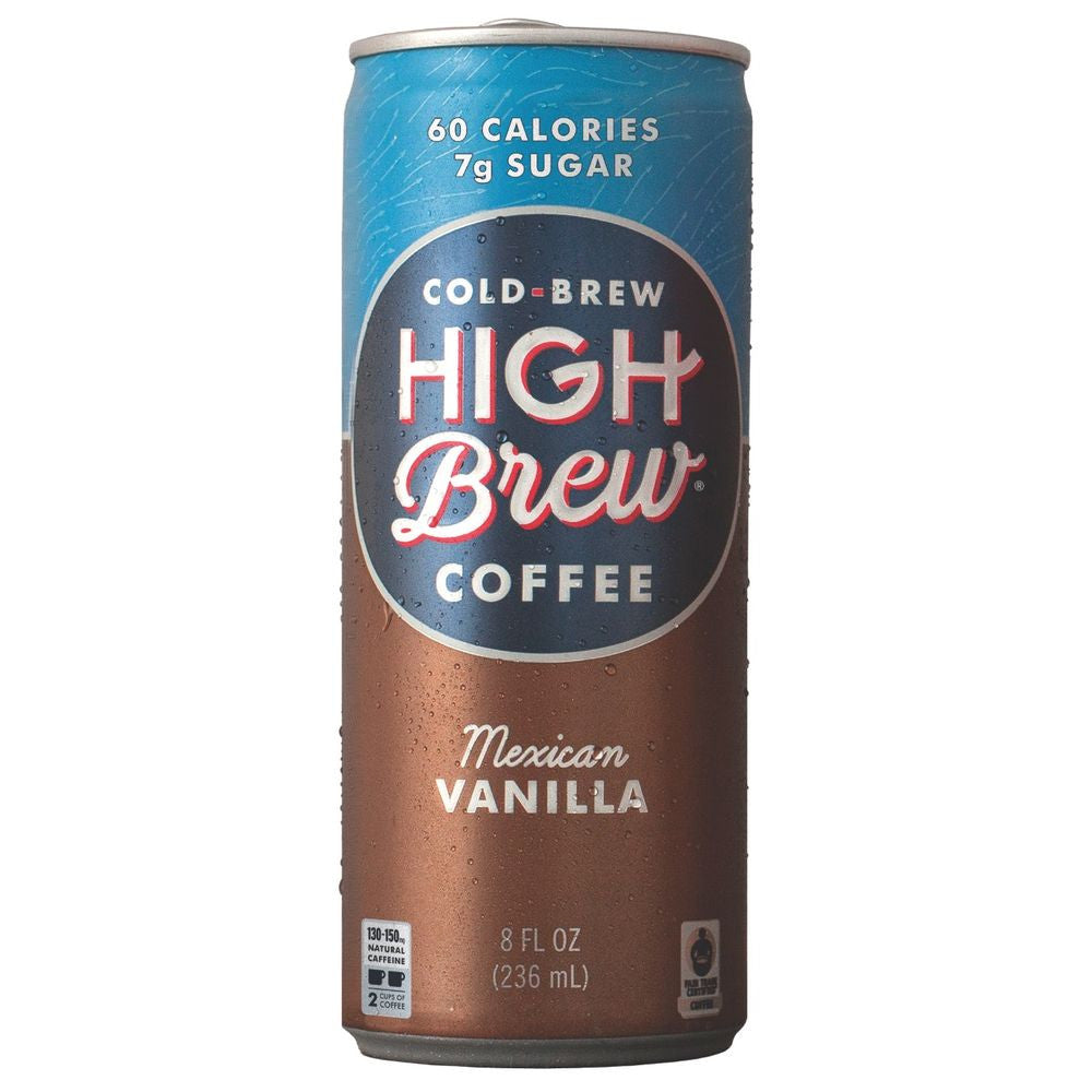 High Brew Mexican Vanilla Cold Brew Coffee, 8 OZ (Pack of 12)